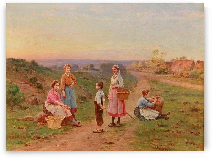 The apple pickers, 1908 by Cesar Pattein