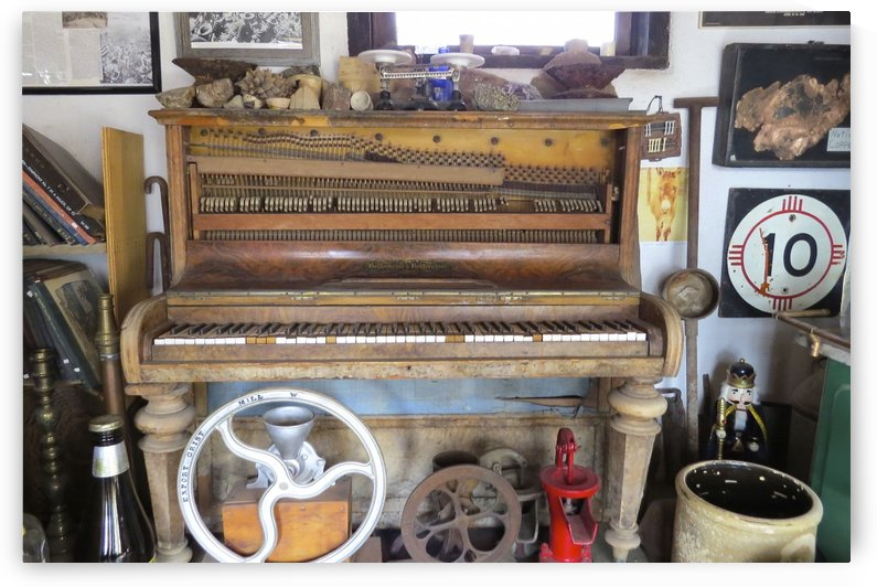 Turquoise Trail - Old Piano in Cerrillos 2VP by Vicki Polin