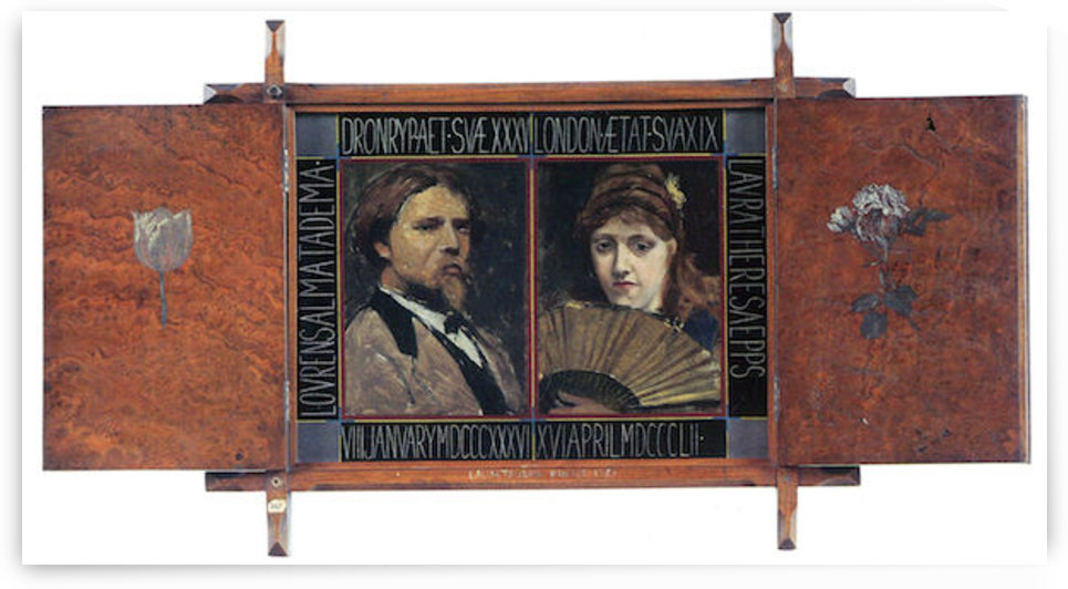 Self-portrait by Lawrence Alma-Tadema and Laura Theresa Epps by Alma-Tadema by Alma-Tadema