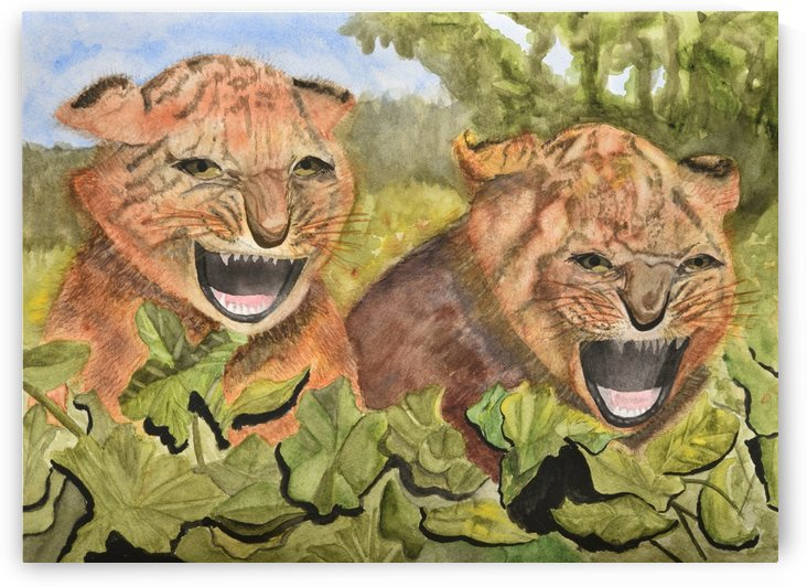 Baby Tiger Cubs by Linda Brody