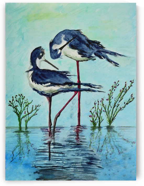 Stilts Bathing  by Linda Brody