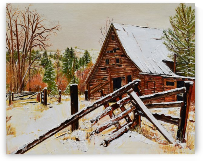 Strong Timbers - A Barn in Nevada by Jan Kornegay Dappen