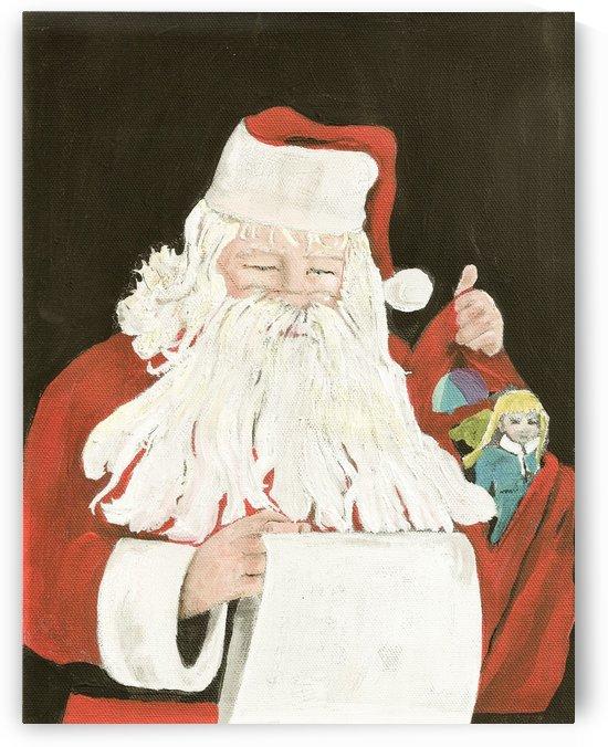 Santa making his list by Jan Kornegay Dappen