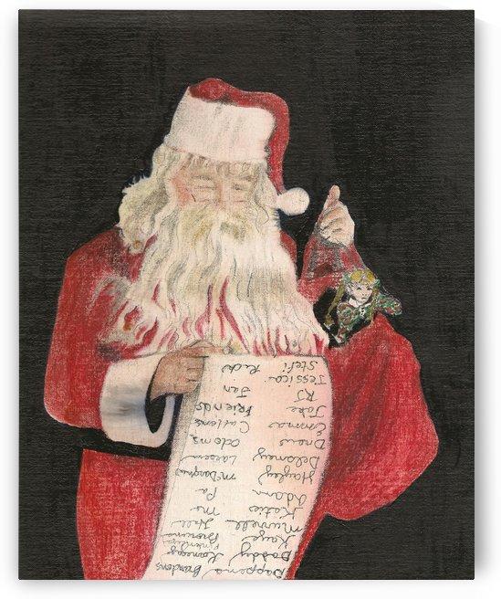 Santa Checking His List by Jan Kornegay Dappen