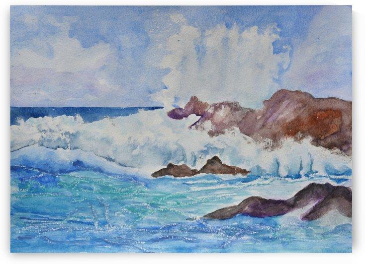 Crashing Wave I by Linda Brody