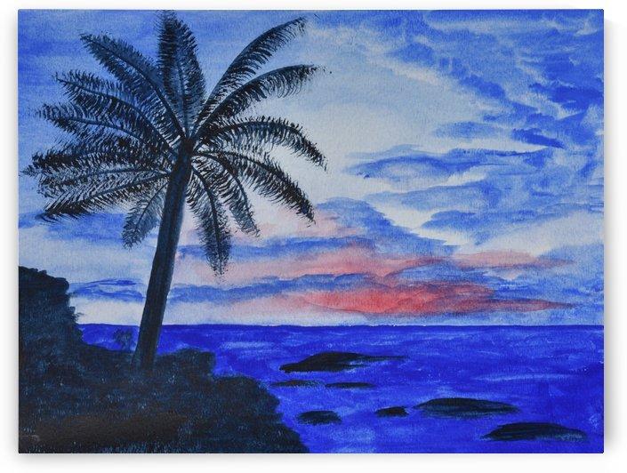 Dusk Ocean Scene by Linda Brody
