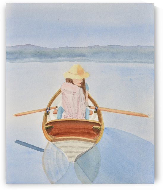 Girl in Rowboat by Linda Brody