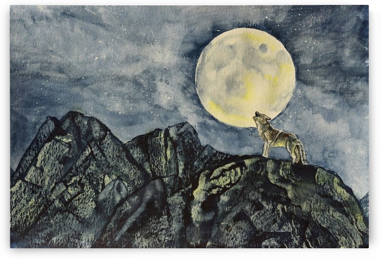 Howling Wolf Landscape by Linda Brody