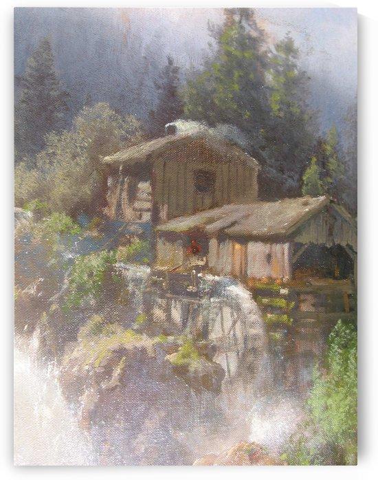 Water mill by Hermann Ottomar Herzog