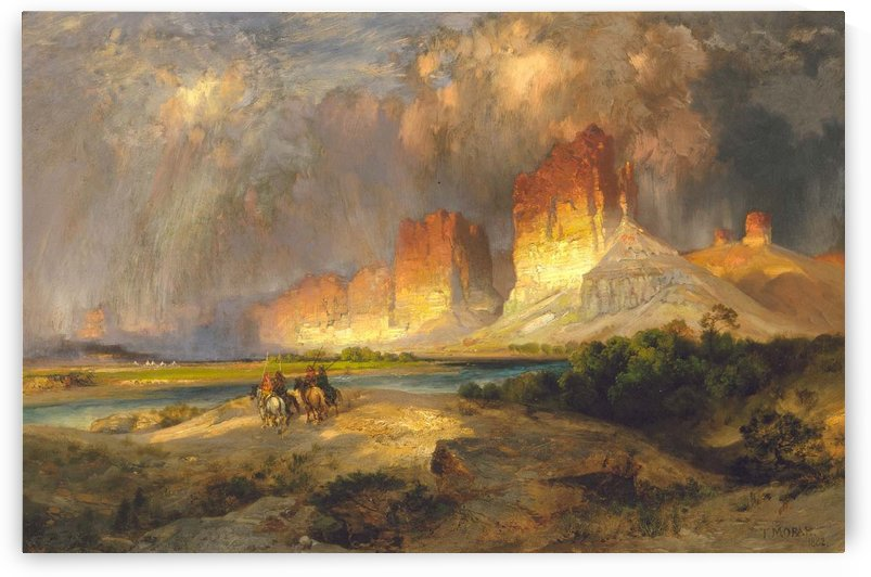Riders going to Green River, Wyoming by Thomas Moran