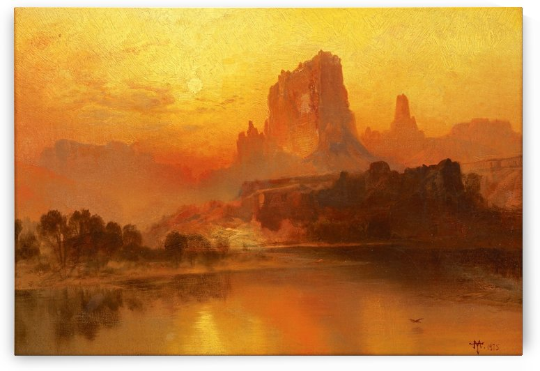 The golden hour by Thomas Moran