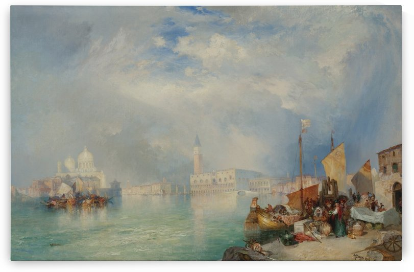 Entrance to the Grand Canal of Venice, 1915 by Thomas Moran