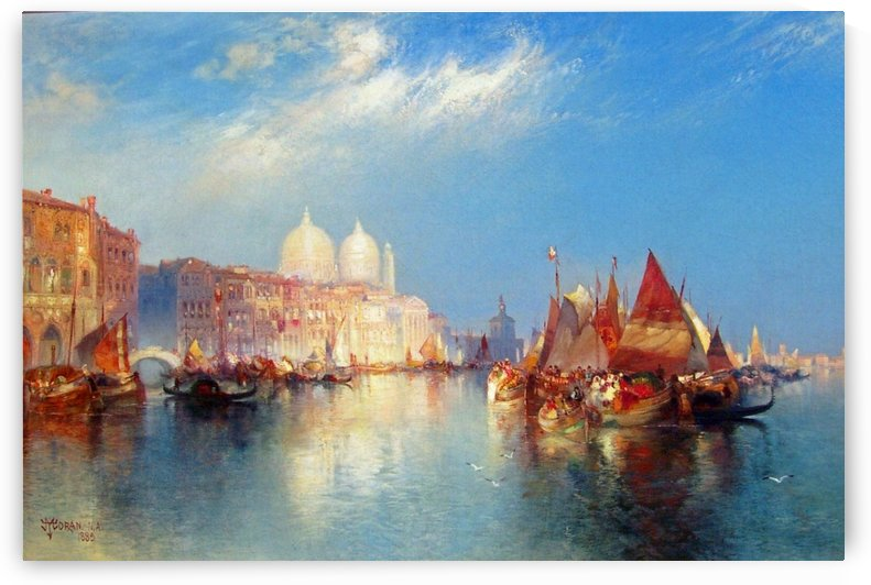 Boats on the Grand Canal in Venice by Thomas Moran