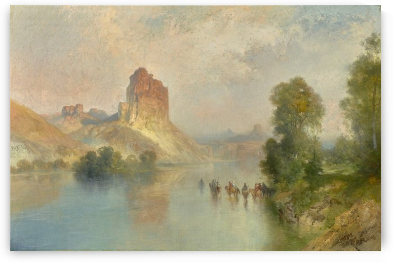 Castle Rock, Green River, Wyoming by Thomas Moran