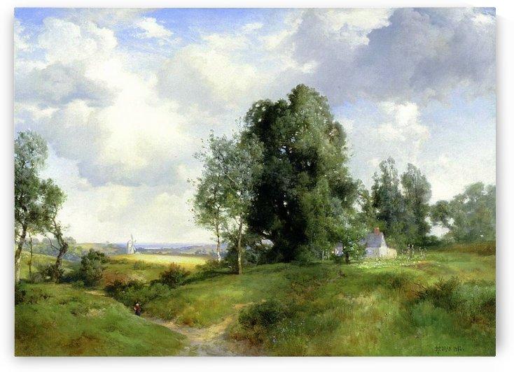 Old Windmill East Hampton Long Island New York, 1912 by Thomas Moran
