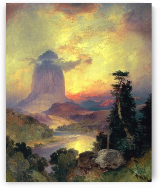 Devil's Tower, 1919 by Thomas Moran