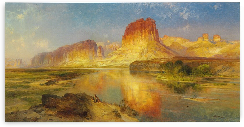 Moran river, Wyoming by Thomas Moran
