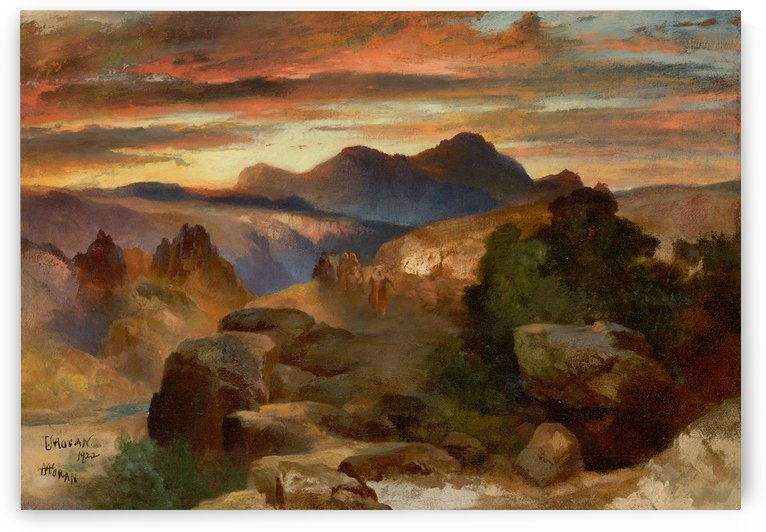 Sunset, 1922 by Thomas Moran