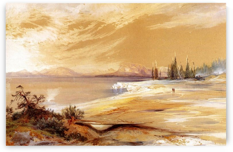Hot Springs on the Shore of Yellowstone Lake by Thomas Moran