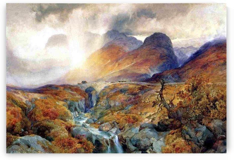 Pass at Glencoe Scotland, 1882 by Thomas Moran