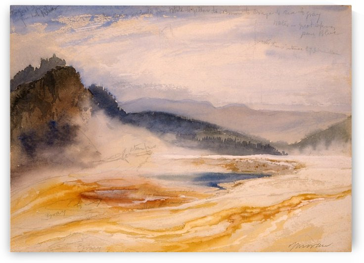 Great Springs of the Firehole River by Thomas Moran