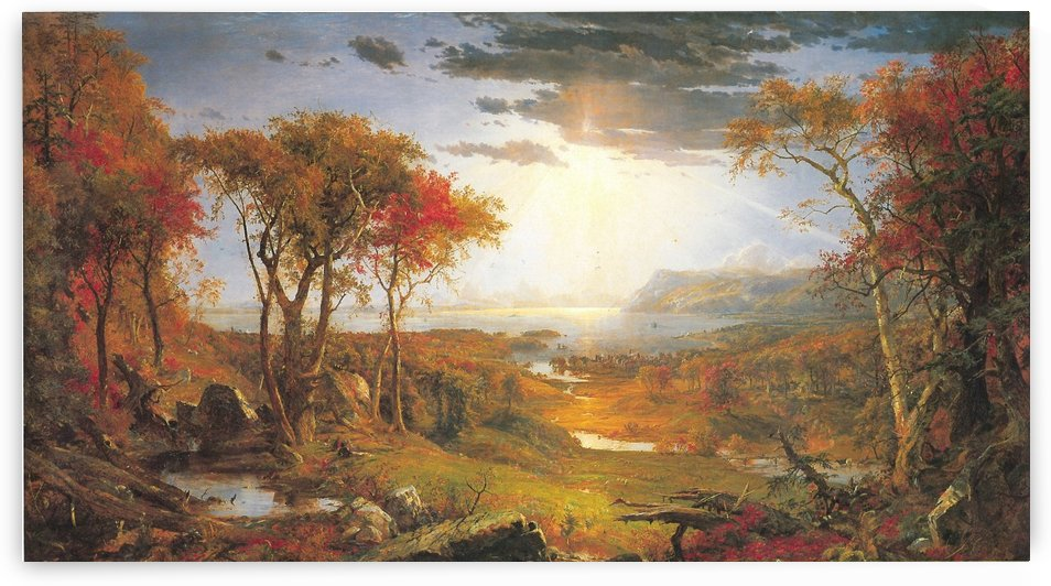 On the Hudson River 1860 by Jasper Francis Cropsey