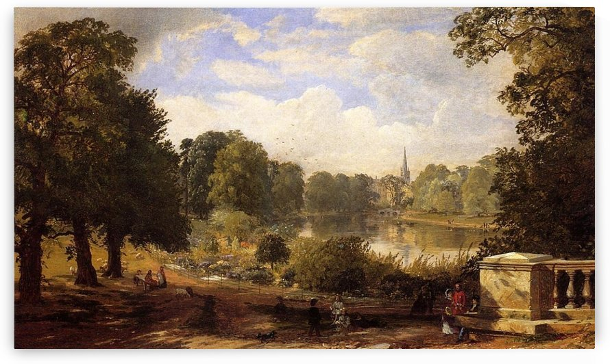 The Serptentine, Hyde Park, London by Jasper Francis Cropsey