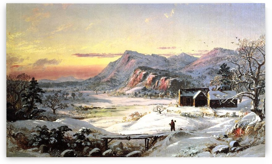 Winter Landscape, North Conway by Jasper Francis Cropsey