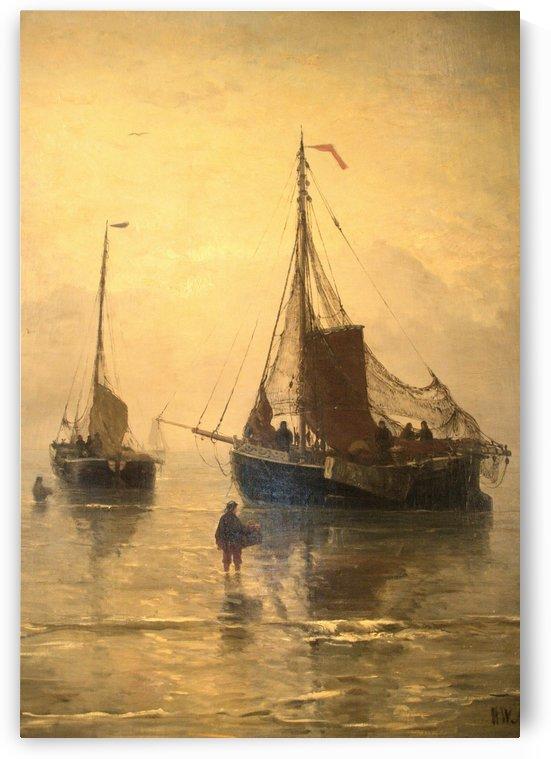 Aankomst van de Vis by Hendrik Willem Mesdag