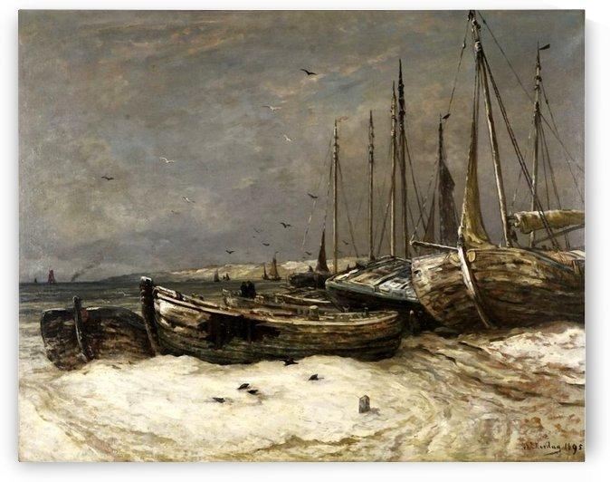 Scheveningen toen en by Hendrik Willem Mesdag
