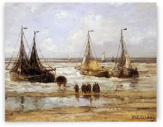Arrival Of The Fleet Sun by Hendrik Willem Mesdag