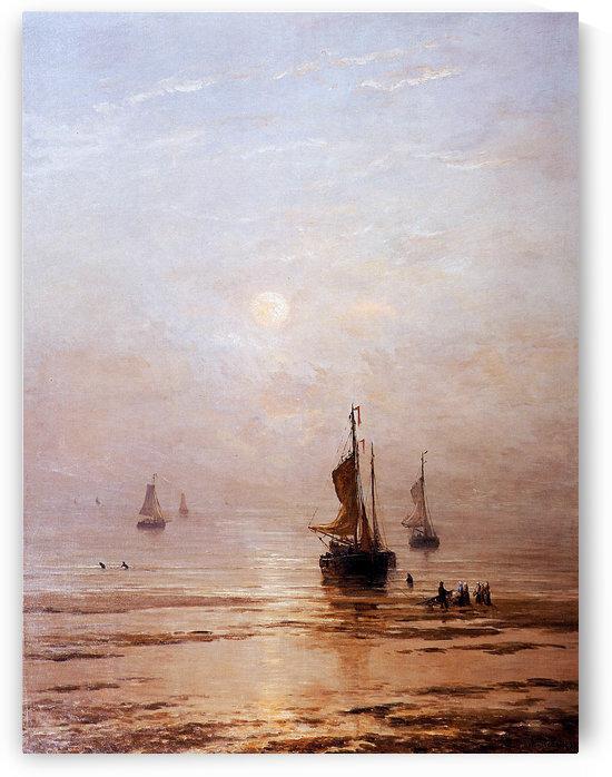 Summer Evening Scheveningen Sun by Hendrik Willem Mesdag