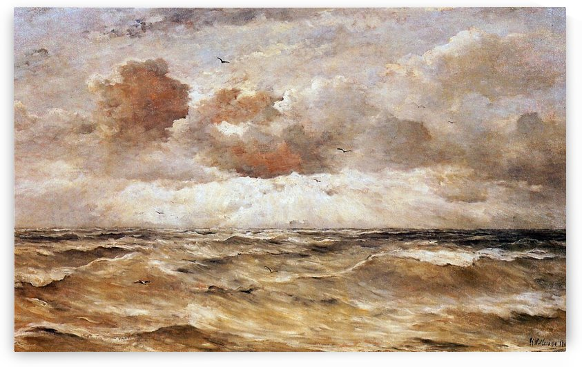 La Mer du Nord Sun by Hendrik Willem Mesdag