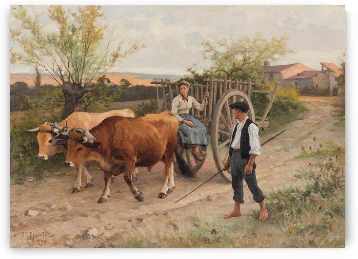 A ride with a carrige by Edouard Bernard Debat-Ponsan