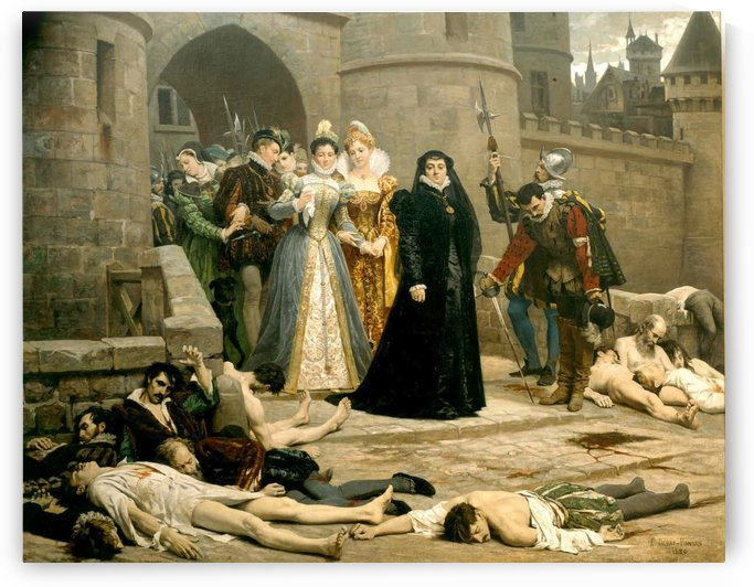 A murder scene by Edouard Bernard Debat-Ponsan