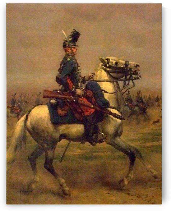 Revue de hussards, 1879 by Edouard Bernard Debat-Ponsan