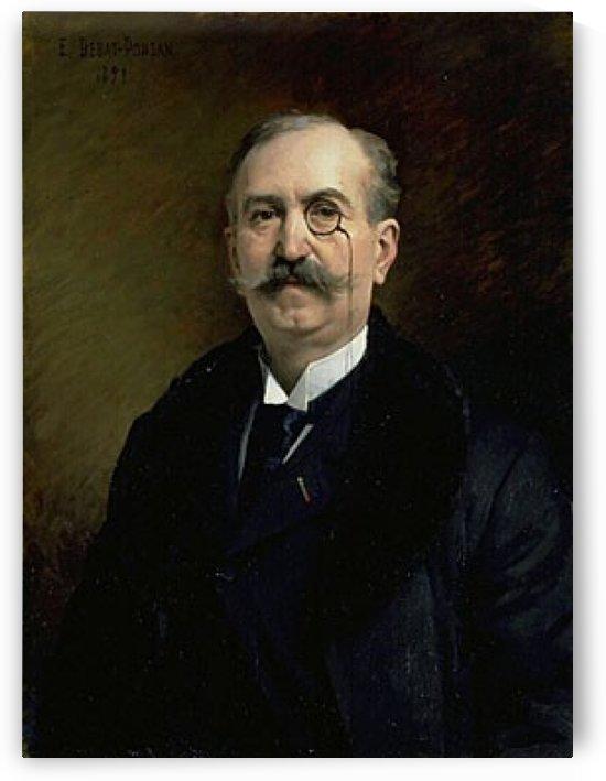 Portrait von MG Broustet by Edouard Bernard Debat-Ponsan