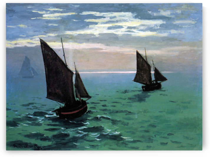 Le Havre - exit the fishing boats from the port by Monet by Monet