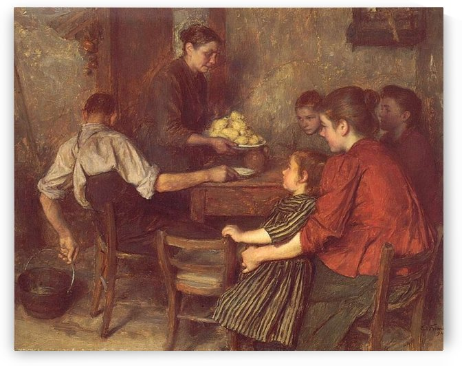 The Frugal Repast by Emile Friant