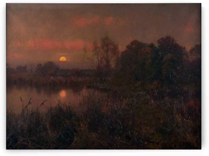 An Autumn Moonrise by Edward Wilkins Waite