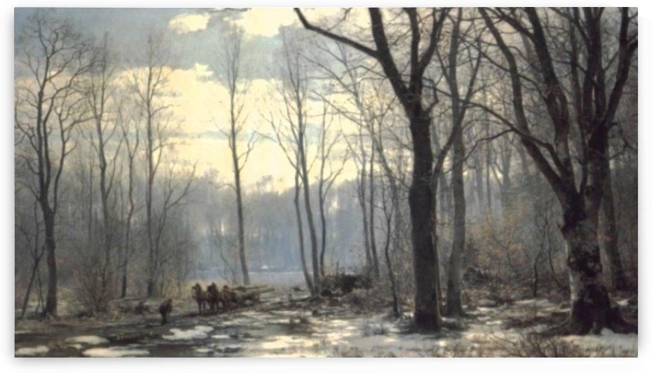 Beautiful Tree Painting by Edward Wilkins Waite
