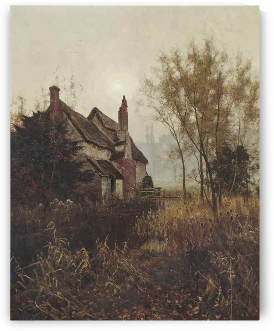 A house by the river by Edward Wilkins Waite
