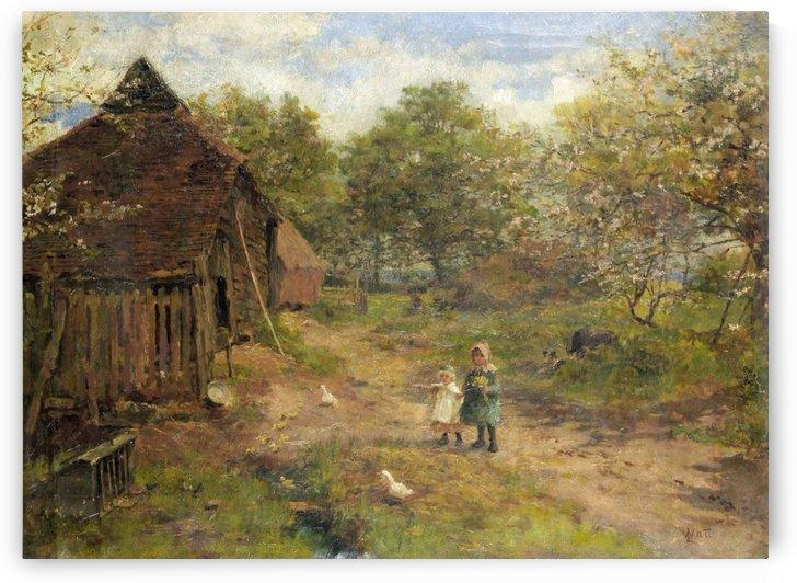 Reposing in decay by Edward Wilkins Waite