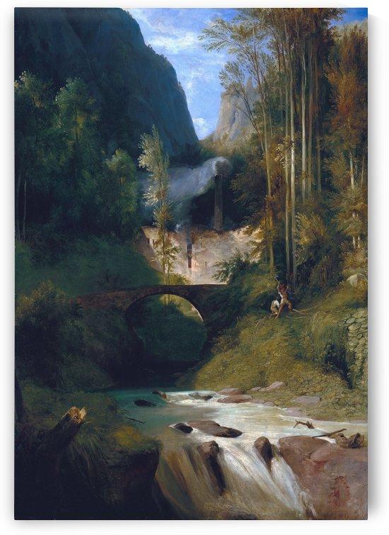 Schlucht bei Amalfi, 1831 by Carl Eduard Ferdinand Blechen