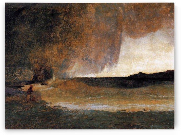 The Bay of Rapallo by Carl Eduard Ferdinand Blechen