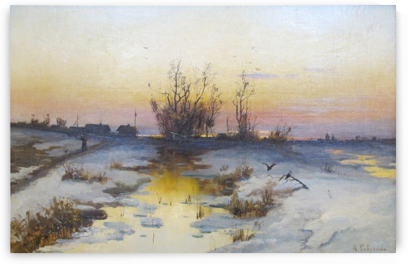 Sera di primavera 1880 by Alexei Kondratyevich Savrasov