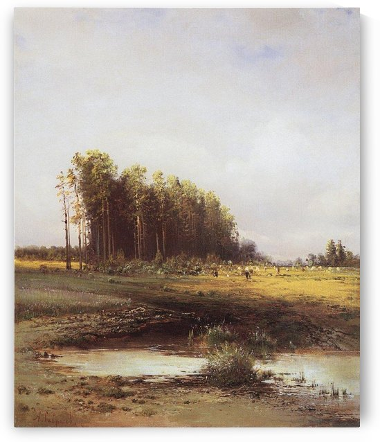 Landscape with trees by Alexei Kondratyevich Savrasov