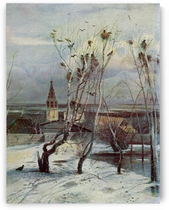 Edge of the Village in Winter by Alexei Kondratyevich Savrasov