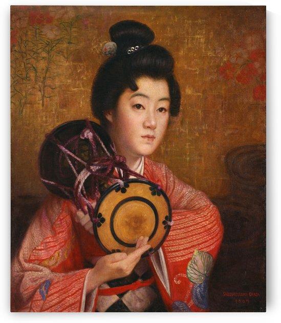 Portrait of a lady by Okada Saburosuke