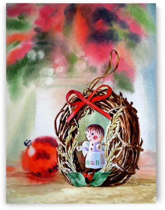 Christmas Angel Festive Ornament by Irina Sztukowski